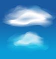 Different white clouds set vector image vector image