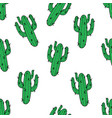 cactus seamless pattern modern fashion background vector image