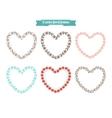 Heart floral frames vector image