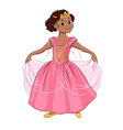 Little girl in the costume of princess vector image