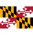 Marylander state flag vector image