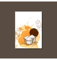 Modern Template for Cupcake Brochure vector image