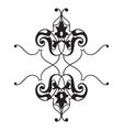 Oriental decorative element Zentangle black and vector image