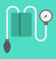 tonometer flat icon medicine and healthcare vector image