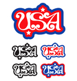 USA letters vector image