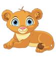 Resting little lion cub vector image vector image