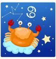 Zodiac signs -Cancer vector image vector image