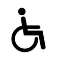 Disabled sign vector image vector image