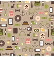 Seamless pattern of hipster colorful style vector image