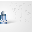 Music background with microphone shape and musical vector image