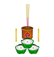 Delicious Chinese Pudding for New Year Worship vector image