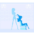 beautiful woman in hairdressing salon vector image