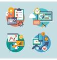 Set flat design for internet marketing vector image