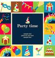 Party time frame vector image