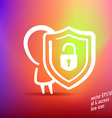 id and access thin line icon vector image