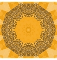 Elegant mandala-like frame on seamless texture vector image