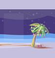 Christmas palm vector image