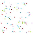Confetti seamless pattern background vector image