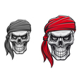 Danger pirate skull vector image