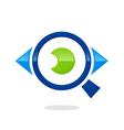 eye vision search logo vector image