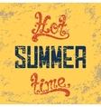 Hot summer time Calligraphic handwritten vintage vector image