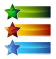 polygonal star banner set vector image