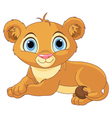 Resting little lion cub vector image