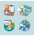 Set flat design for internet marketing vector image