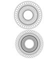 set of 2 circular guilloche vector image