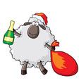 sheep - santa vector image