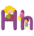 Kids in the letters series vector image vector image