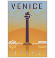 Venice vintage poster vector image vector image