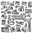 Photography Doodles vector image vector image