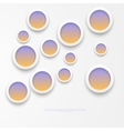 white paper round notes vector image