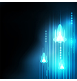 Abstract Blue rocket technology communicate vector image