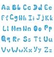 Alphabet blue vector image