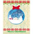 Santa Claus in a glass ball vector image vector image