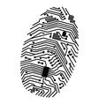 motherboard fingerprint vector image