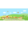 Country landscape with villages Summer vector image