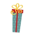 Gft holiday box for birthday with ribbon flat vector image