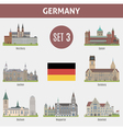 Famous Places cities in Germany vector image vector image
