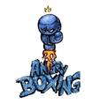 Angry boxing Glow vector image
