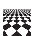 Black and white background with squares vector image