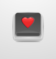 Button Heart icon vector image