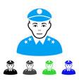 enjoy army general icon vector image