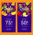 flat fruits vegan shop or market sale flyer vector image