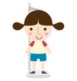 girl height vector image