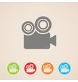 movie camera icons vector image