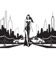 movie star goes to party in new york vector image