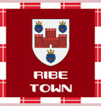 national ensigns of denmark - ribe town vector image